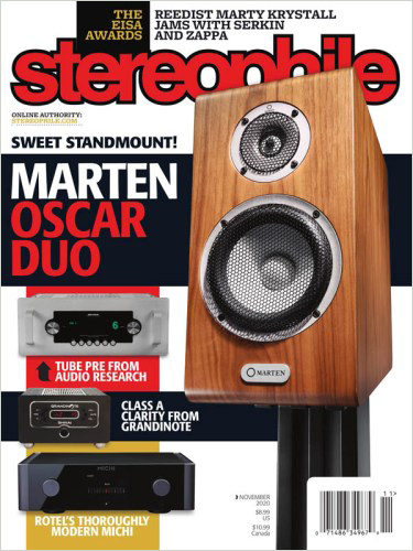 Marten Oscar Duo on the cover of Stereophile